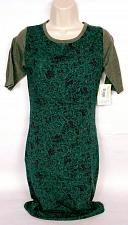 Buy Lularoe Womens Julia 1/2 Sleeve Bodycon Dress Size XS Paisley Green Red