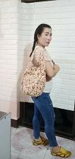 Buy Thai HMONG Hill Tribe Ethnic Rose Floral Embroidered Tote Bag Handbag BS-144