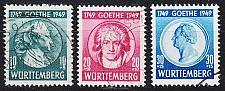 Buy GERMANY Alliiert Franz. Zone [Württemberg] MiNr 0044-46 ( O/used ) [01] geprüft