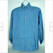 Buy Talbots Men's Button Up Casual Shirt Size Medium Blue Striped Long Sleeve