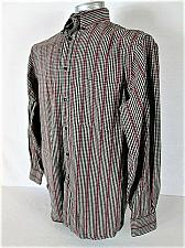 Buy ROUNDTREE & YORKE mens Medium L/S RED BLACK CHECKS POCKET BUTTON UP SHIRT (S)P