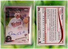 Buy MLB JASMINE PINTO MINNESOTA TWINS AUTOGRAPHED 2014 TOPPS CHROME ROOKIE #24 MNT