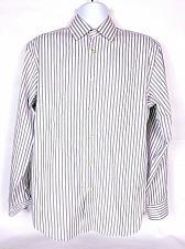 Buy Egara Men's Non Iron Shirt Size Large Button Front Purple White Striped