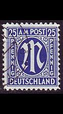 Buy GERMANY Alliiert AmBri [1945] MiNr 0009 ( O/used )