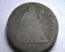 Buy 1891-S SEATED LIBERTY DIME ABOUT GOOD / GOOD AG/G ORIGINAL COIN BOBS COINS