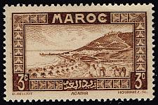 Buy French Morocco #126 Roadstead at Agadir; MNH (5Stars)  FRM126-02XRS