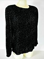 Buy RENA ROWAN womens Sz 4 L/S black VELVET SILK blend fully lined zip back top (R)