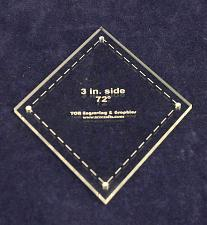 """Buy Diamond Template 3"""" Side- Clear 1/8"""" 72 Degree"""