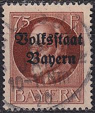 Buy GERMANY Bayern Bavaria [1919] MiNr 0135 II A ( O/used )