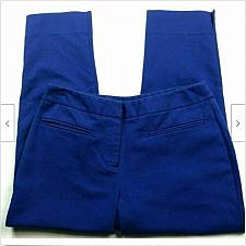 Buy Chicos Womens Skinny Dress Pants Size 00 - 2 Solid Blue Career Pockets