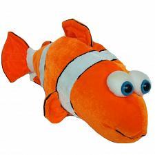 "Buy Six Flags Texas Clown Fish Orange White Plush Stuffed Animal 17"""