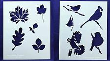Buy Nature Stencils - Birds and Leaves 14 Mil Mylar