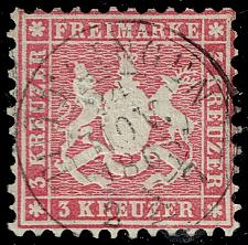 Buy Germany-Wurttemberg #36 Coat of Arms; Used (4Stars) |WUR36-01XRP