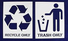 """Buy Recycle-Trash -With Words- 2 Piece Stencil Set 14 Mil 18"""" X 24"""" Painting/Crafts/"""