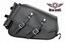 Buy Motorcycle Left Side Swing Arm Solo Bag BLACK PVC Softail Chopper Sportster New