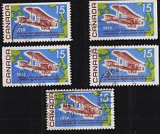 Buy KANADA CANADA [1969] MiNr 0436 ( O/used ) [01] Flugzeug div Zähnungen