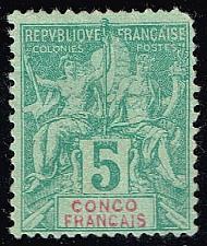 Buy French Congo #21 Navigation & Commerce; Unused (1Stars) |FRD21-01XVA