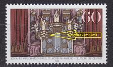Buy GERMANY BUND [1989] MiNr 1441 III ( **/mnh ) Musik Platenfehler