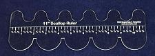 """Buy 11"""" Scallop Ruler - Clear Acrylic - Quilting/Sewing/Embroidery - Template 1/8"""""""