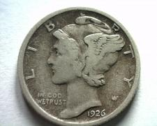 Buy 1926-D MERCURY DIME FINE+ F+ NICE ORIGINAL COIN FROM BOBS COINS FAST SHIPMENT
