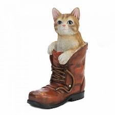 Buy Cat In A Boot Garden Figurine