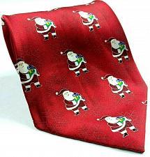 Buy Santa Claus Carrying Presents Snowflake Christmas Silk Novelty Necktie