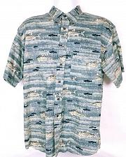 Buy Pendleton Men's Casual Shirt Large Fishing Button Front Short Sleeve 100% Cotton