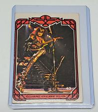 Buy VINTAGE KISS LIVE GENE SIMMONS 1978 AUCOIN ROCK MUSIC COLLECTORS CARD #43 GD/VG