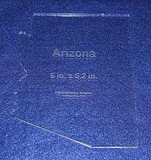 """Buy State of Arizona Template 6"""" X 5.2"""" - Clear ~1/4"""" Thick Acrylic"""