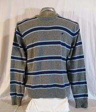 Buy URBAN UP mens Large L/S GRAY PURPLE STRIPED CREW NECK SWEATER (A)