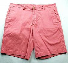 Buy Vineyard Vines Mens Breaker Shorts Size 36 Solid Coral Flat Front Pockets