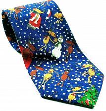 Buy Christmas Tree Reindeer Snowflakes Snowman 100% Cotton Novelty Necktie