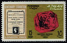 Buy Ajman #39 British Guiana Stamp; MNH (5Stars)  AJM0039-01XRS