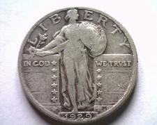 Buy 1929 STANDING LIBERTY QUARTER VERY FINE VF NICE ORIGINAL COIN FROM BOBS COINS