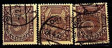 Buy GERMANY REICH Dienst [1920] MiNr 0033 a,b,c ( O/used ) [01]