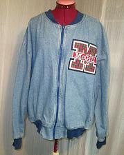 Buy Vintage McGill Embroidered Crest Cotton Denim Bomber Jacket Sz Large Letterman
