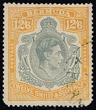 Buy Bermuda #127a King George VI; Used (3Stars) |BER0127a-01XRP