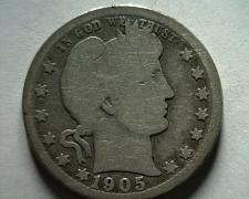 Buy 1905-O BARBER QUARTER DOLLAR GOOD G NICE ORIGINAL COIN FROM BOBS COINS FAST SHIP