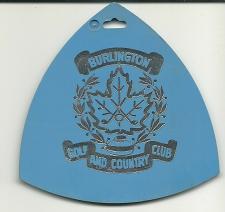 Buy Burlington Golf and Country Club Ontario Canada Golf Bag Tag Fob