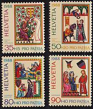 Buy SCHWEIZ SWITZERLAND [1988] MiNr 1372-75 ( **/mnh ) Pro Patria