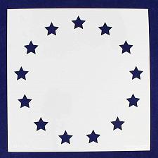 "Buy 13 Star Revolutionary Field Stencil 14 Mil -10.5""H x 10.5""W - Painting /Crafts/"