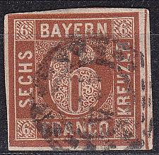 Buy GERMANY Bayern Bavaria [1850] MiNr 0004 II ( O/used ) [08]