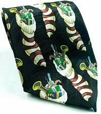 Buy Christmas Stocking Candy Cane Toy Soldier Trumpet Holiday Novelty Silk Tie