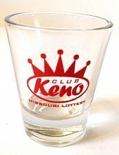 "Buy Club Keno Missouri Lottery 2.25"" Collectible Shot Glass"