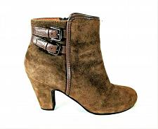 Buy Sofft Brown Suede Zipper Ankle Bootie Heels Shoes Women's 8 M (SW13)