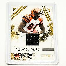 Buy NFL CHAD OCHOCINCO BENGALS 2009 PANINI ROOKIE GAME-WORN JERSEY RELIC MINT