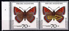 Buy GERMANY BUND [1991] MiNr 1515 F14 2er ( **/mnh ) [01] Schmetterlinge Plattenfehler