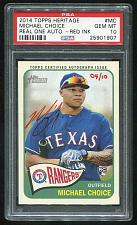 Buy 2014 TOPPS HERITAGE REAL ONE RED AUTO MICHAEL CHOICE 4/10 PSA 10 GEM MINT (1907)