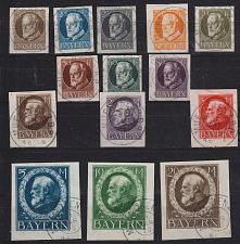Buy GERMANY Bayern Bavaria [1916] MiNr 0094-09 II B ( O/used ) [01]