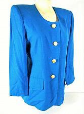 Buy ALBERT NIPON womens Sz 8 L/S blue RAYON button down FULLY LINED jacket (C2)P